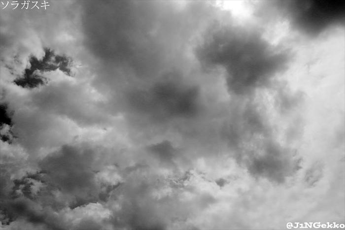 皇紀2676年7月18日 10時58分 今日の空模様 ヽ( ´¬`)ノ モノクロいくよっ!