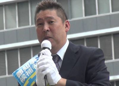 立花孝志 街頭演説 東京都知事選挙 立ち合い演説会@新宿20160725