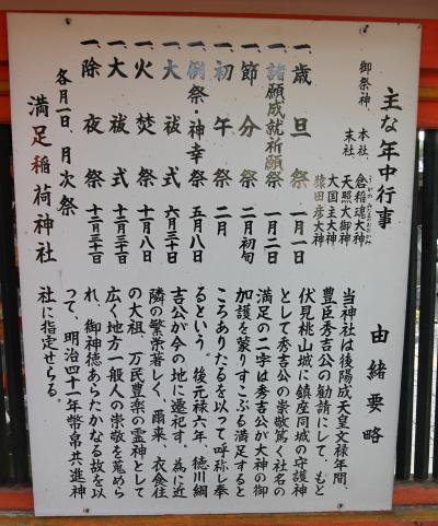 満足稲荷神社高札