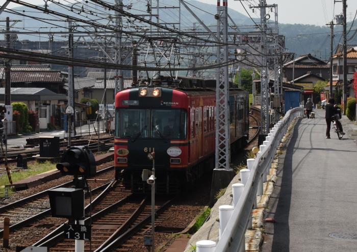 坂本行き京阪電車