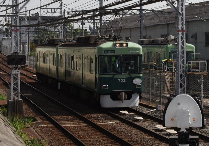 石山寺行き京阪電車