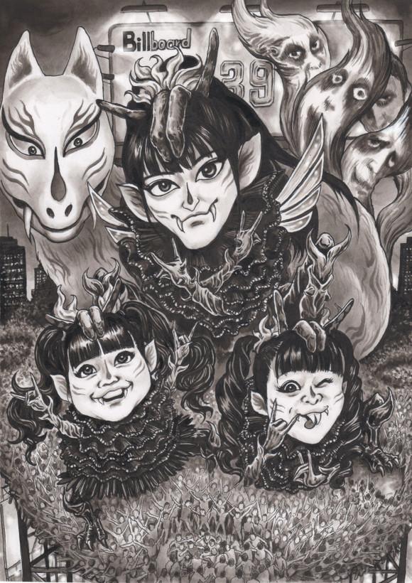 BABYMETAL 風刺漫画