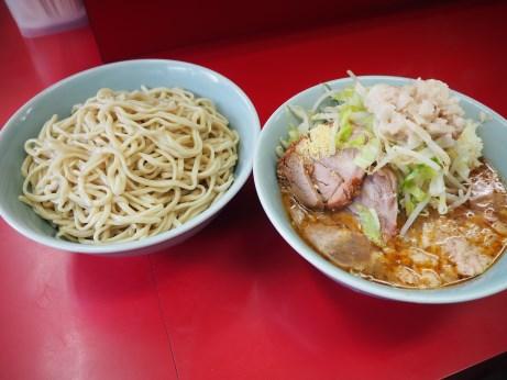160619_中山駅前_小ラーメン_つけ麺_ヤサイニンニクアブラ