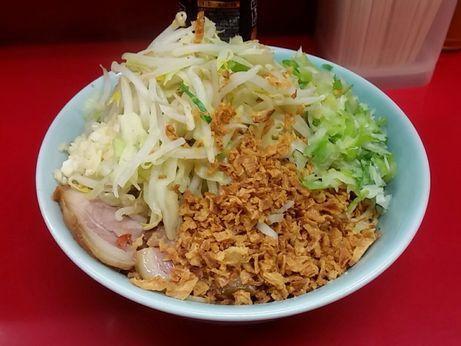 160814_中山駅前_小ラーメン_ねぎ汁なし_麺半分_ニンニク少な目