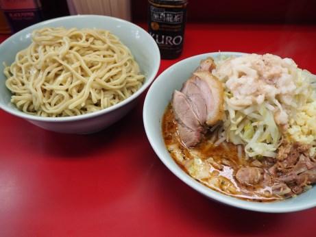 161009_中山駅前_小ラーメン_つけ麺_ヤサイニンニクアブラ