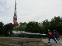 港区内消防団ポンプ操法大会