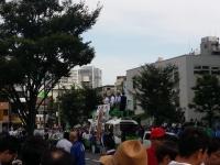 安倍晋三自民党総裁街頭演説