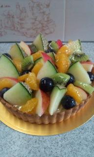 タルト夏の果物の