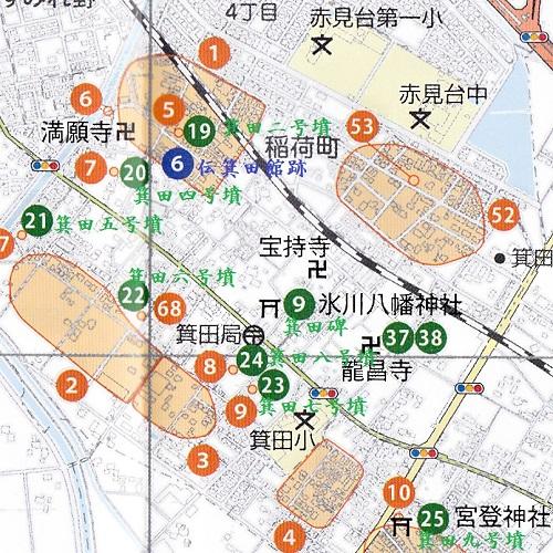 ②箕田古墳群地図20160901