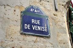 パリの通りの表示板⑤ -