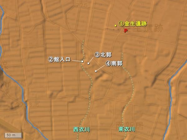 深草館地形図