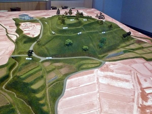 谷戸城模型