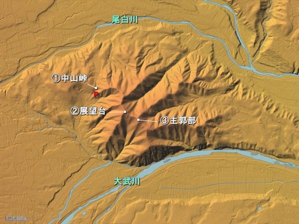 中山砦地形図