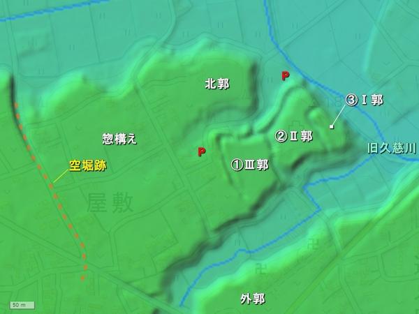 石神城地形図