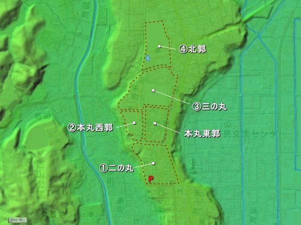 太田城地形図