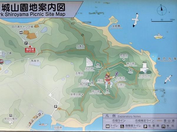 引田城案内図