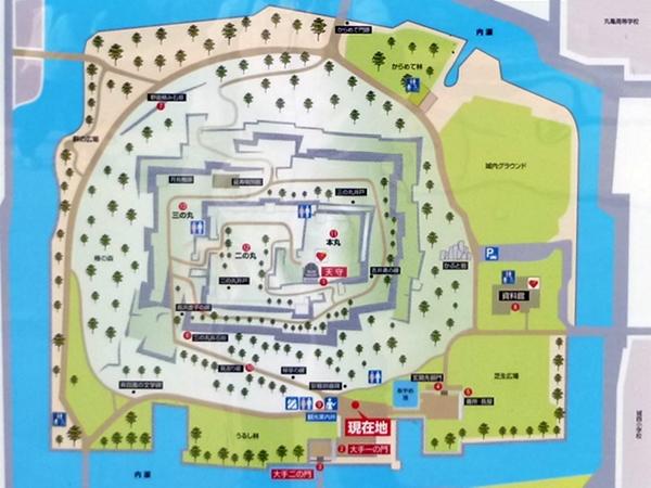 丸亀城案内図