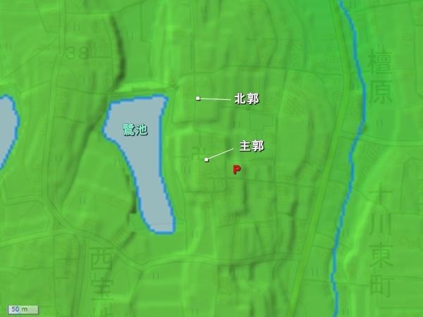 十河城地形図