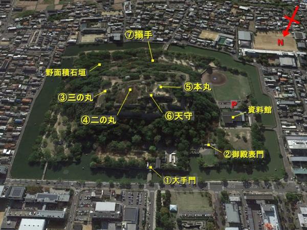 丸亀城航空写真