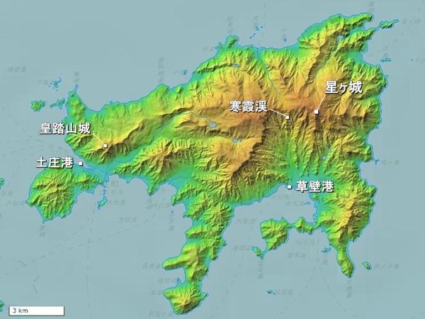 小豆島地形図