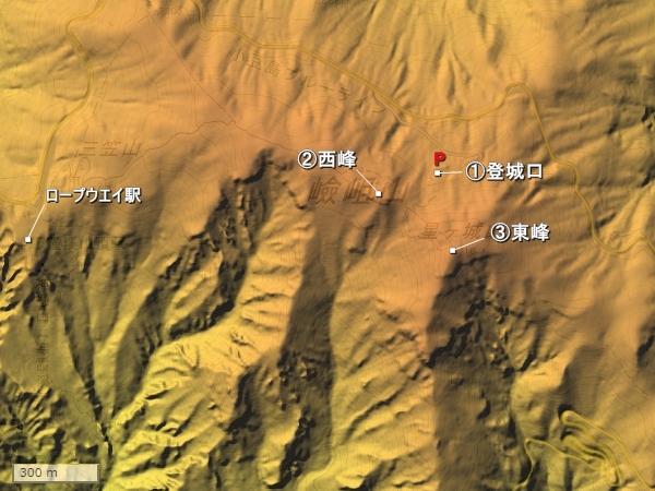 星ヶ城地形図
