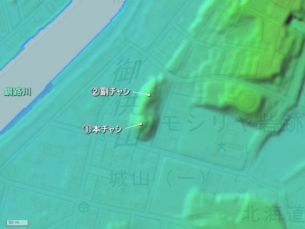 モシリヤチャシ地形図