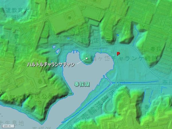 ハルトルチャランケチャシ地形図