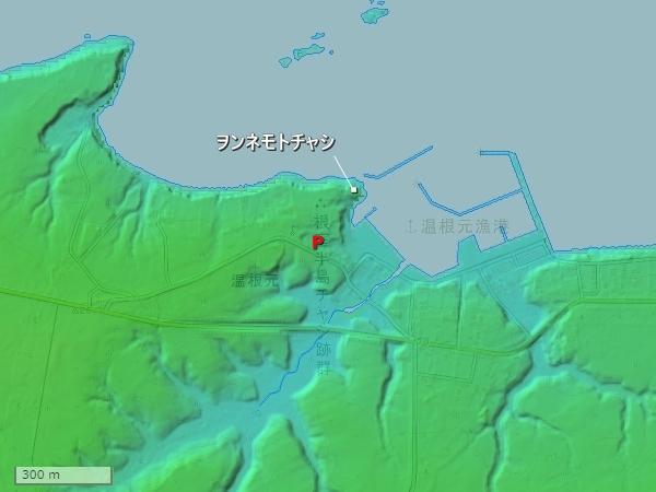 ヲンネモトチャシ地形図