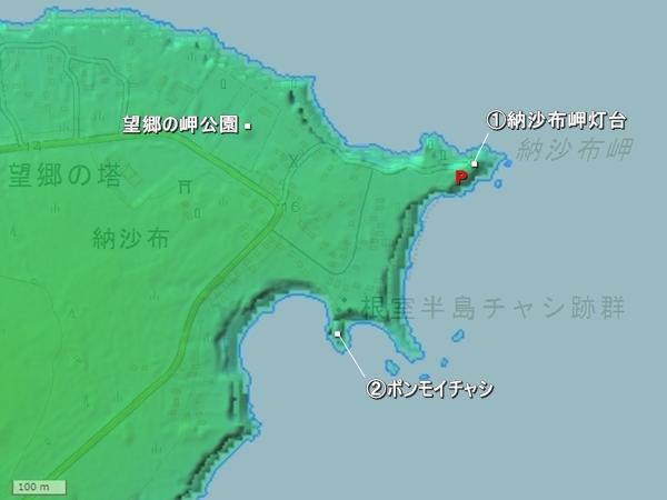 ポンモイチャシ地形図