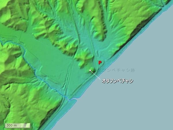 オタフンベチャシ地形図