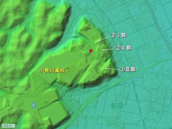 小見川城_地形図