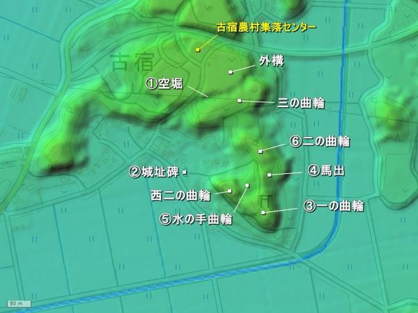 島崎城_地形図