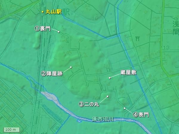 伊奈氏屋敷地形図
