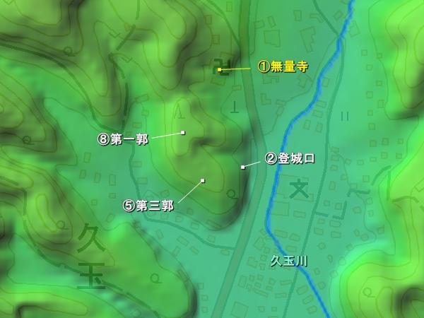 久玉城地形図