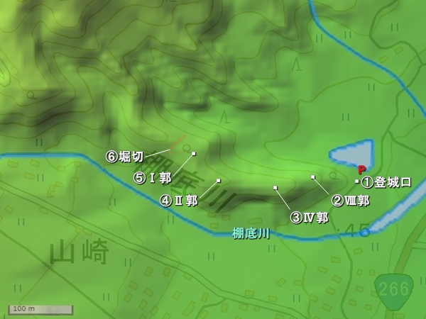 棚底城地形図
