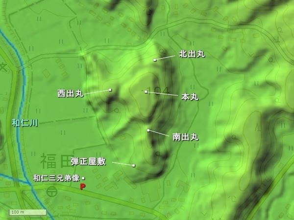 田中城地形図