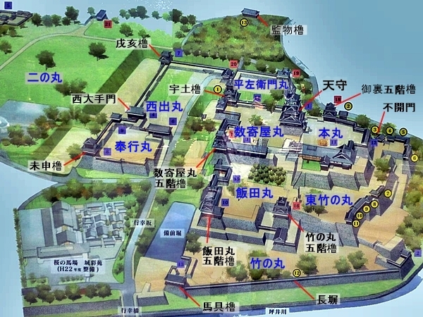 熊本城_案内図