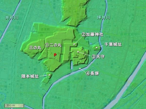 熊本城地形図