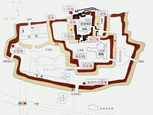 吉田城_縄張