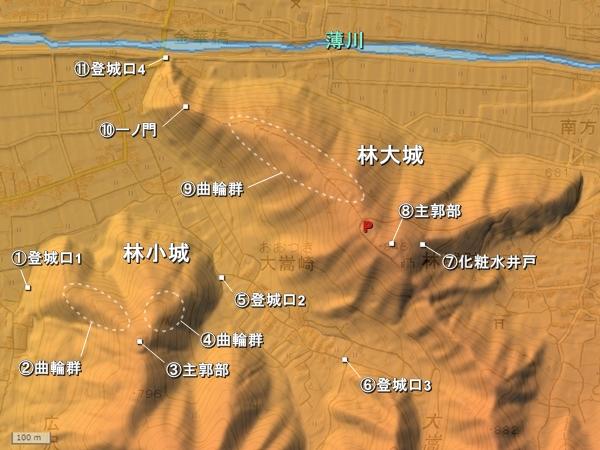 林城_地形図