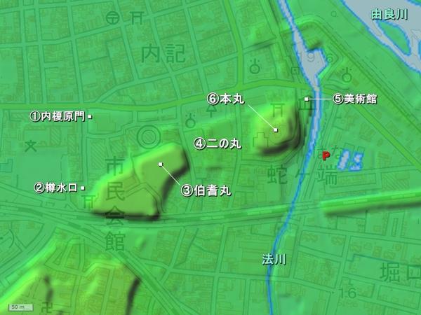 福知山城_地形図