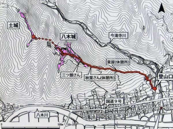 八木城_案内図