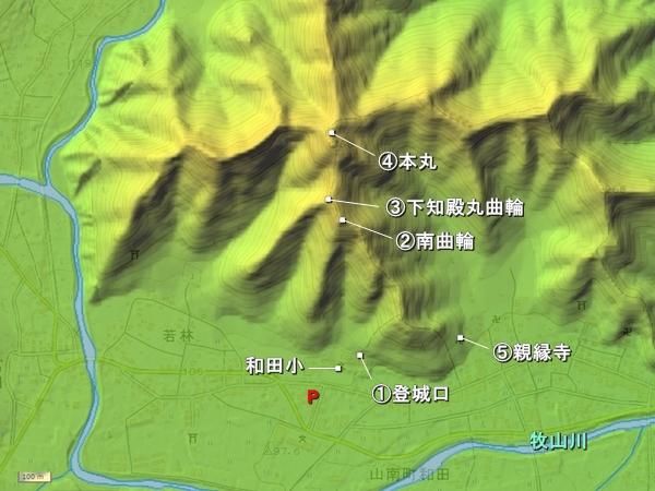 岩尾城_地形図