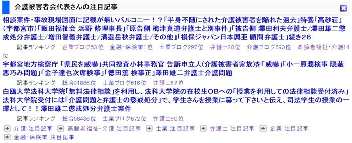 栃木県介護被害者会 反響動向