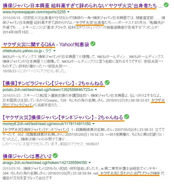 損保ジャパン日本興亜 安田火災 ヤクザ火災 ソンポケア1
