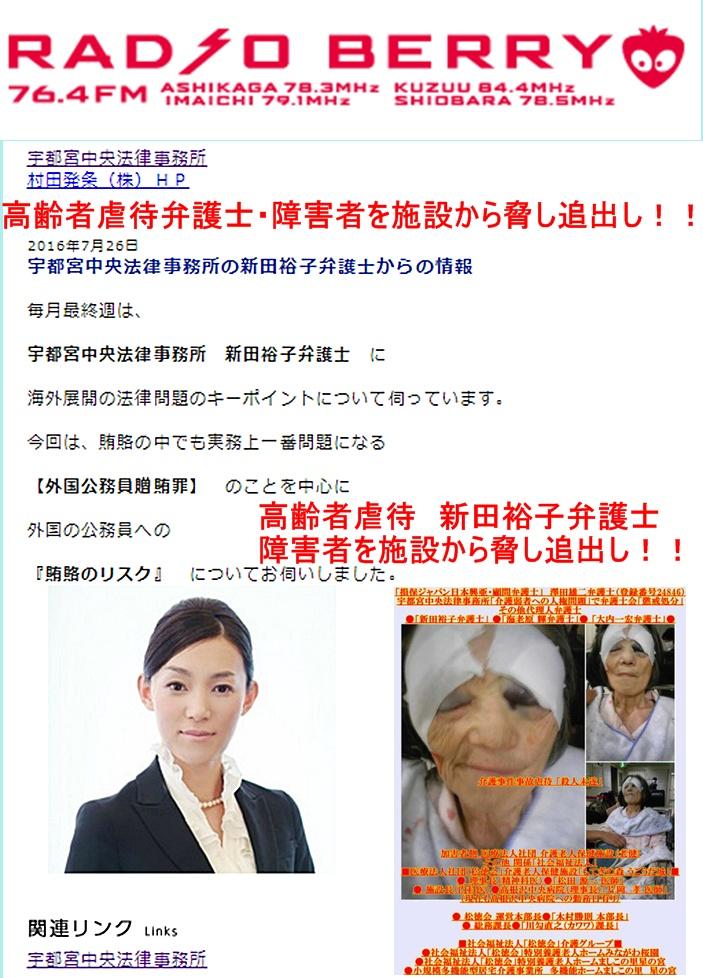 新田裕子弁護士 宇都宮中央法律事務所 澤田雄二 海老原輝 レディオベリー