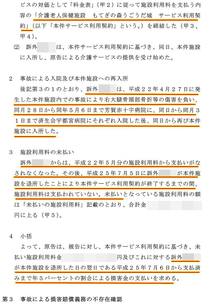 債務不存在確認訴訟3もてぎの森うごうだ城 澤田雄二 松田源一