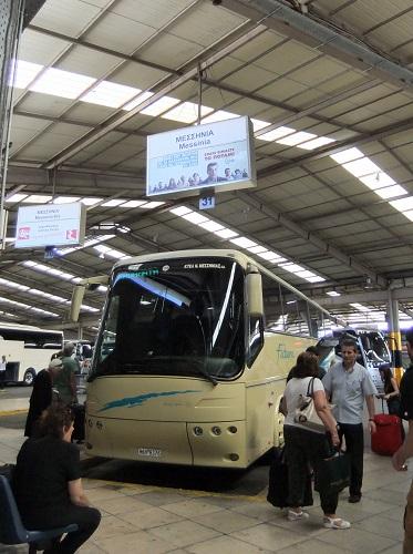 カラマタ行きのバス