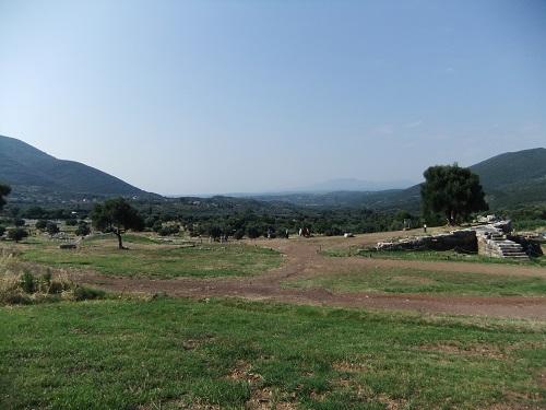 広い古代メッシーニ遺跡