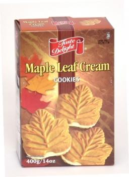 カナダ・テイストデライトメイプルリーフクリームクッキー